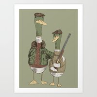 Hunting Ducks Art Print