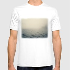Across the Bay White Mens Fitted Tee SMALL