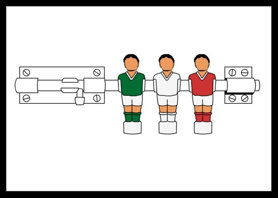 Italian Football - Catenaccio Canvas Print