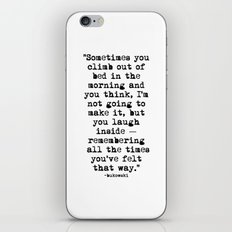 Charles Bukowski Typewriter Quote Morning iPhone & iPod Skin