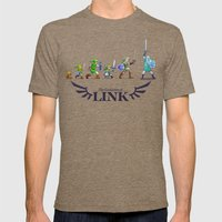 The Evolution of Link Mens Fitted Tee Tri-Coffee SMALL