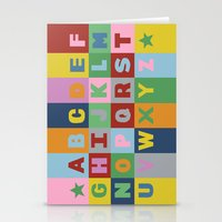 alphabet Stationery Cards featuring Alphabet by Project M