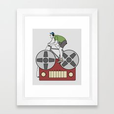 Tape Rider Framed Art Print