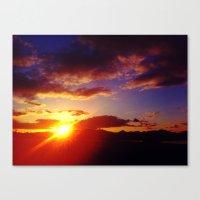 Scottish Sunset Canvas Print