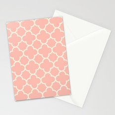 MOROCCAN {CORAL & OFF WHITE } Stationery Cards