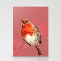 Winter Herald, Robin, Robin Redbreast, Christmas Bird Stationery Cards