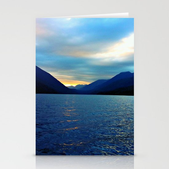Floating in the Lake  Stationery Card