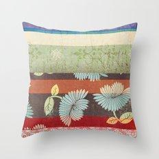 Color Strips Throw Pillow