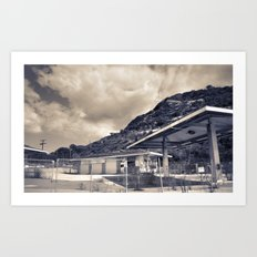 California Gas Station Art Print