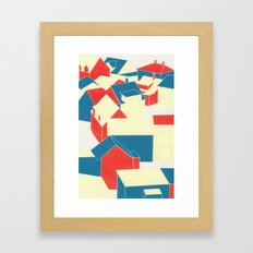 Icelandic houses Framed Art Print