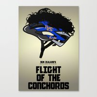 Flight of the Conchords - Hair Helmet Canvas Print