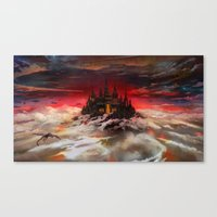 A World  Reborn With Mag… Canvas Print