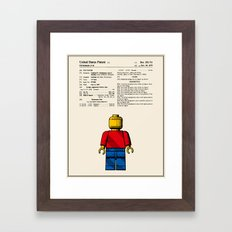 Lego Man Patent - Colour… Framed Art Print