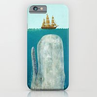 black iPhone & iPod Cases featuring The Whale  by Terry Fan