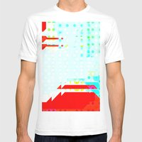 Volcano Fun Mens Fitted Tee White SMALL