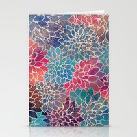 Floral Abstract 8 Stationery Cards