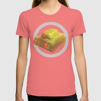 TANKE Womens Fitted Tee Pomegranate SMALL