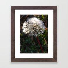 decorated dandelion Framed Art Print