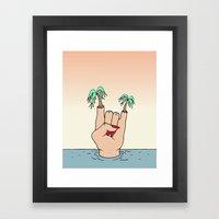 ROCK THE BEACH Framed Art Print