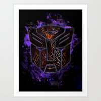 Autobots Abstractness - … Art Print