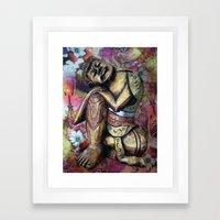 harmony and silence Framed Art Print