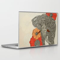 elephant Laptop & iPad Skins featuring The Elephant by Valentina Harper