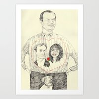 Frasier Wearing A Tshirt… Art Print