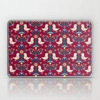Folk Birds Red Laptop & iPad Skin
