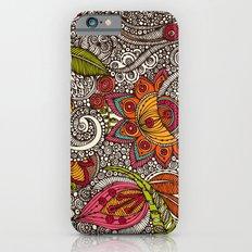 Random Flowers iPhone 6 Slim Case