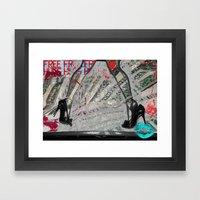 Submissive Capacity Framed Art Print