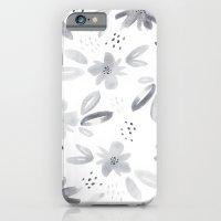 black watercolors iPhone 6 Slim Case