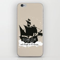 Second star to the right and straight on till morning - Peter Pan Inspired Art Print  iPhone & iPod Skin