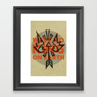No King Framed Art Print