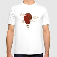 The Kiwi Learns to Fly Mens Fitted Tee White SMALL