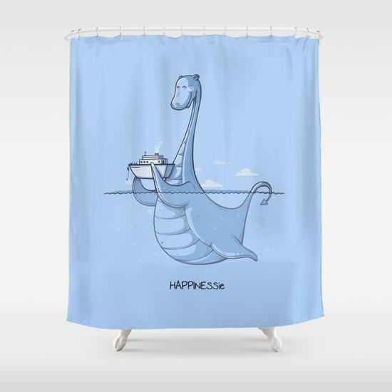 HAPPINESSie Shower Curtain