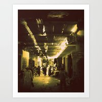 Marrakesh street life Art Print