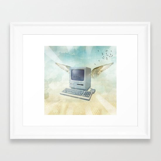 flying Mac Framed Art Print