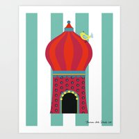 Yellow Bird Circus Time Art Print
