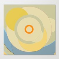 Simple circle pattern Canvas Print