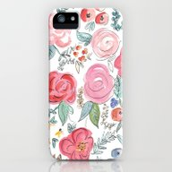 iPhone & iPod Case featuring Watercolor Floral Print by Jenna Kutcher