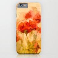 Fiery Poppies In A Golde… iPhone 6 Slim Case