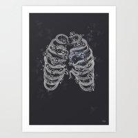 A Swarm Of Bees Living I… Art Print