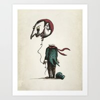 And His Head Swelled Wit… Art Print