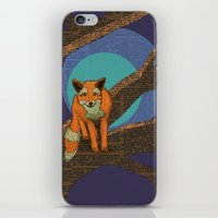 Fox at night iPhone & iPod Skin
