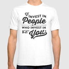 invest in people who invest in you Mens Fitted Tee White SMALL