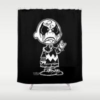 CHARLIE BLACK Shower Curtain