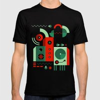 DJ Mens Fitted Tee Black SMALL