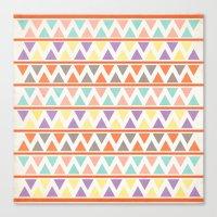 Triangulate 2 / Summer B… Canvas Print