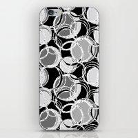 Simple circles on black iPhone & iPod Skin