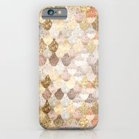 iPhone Cases featuring REALLY MERMAID GOLD by Monika Strigel